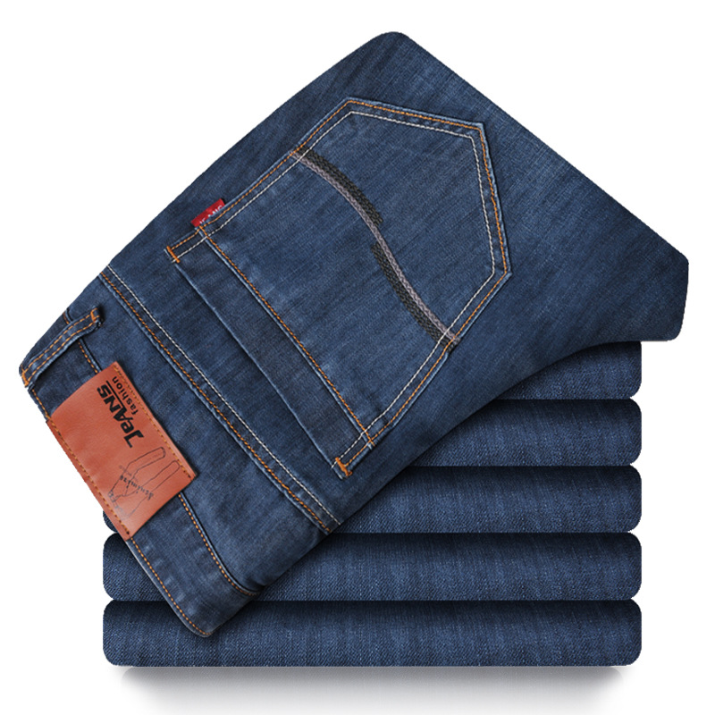 Brand 2017 New Denim Men Jeans Men s Clothing Smart Casual Jeans Men Regular jeans Big