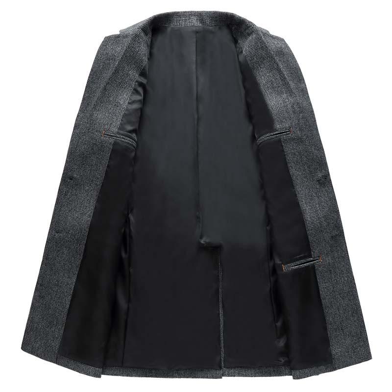 Fashion Men Casual Blazer Jacket Designs Slim Fit Autumn Blazer Masculino Plus Size M-XXXL Casual Grey Long Blazer for Men