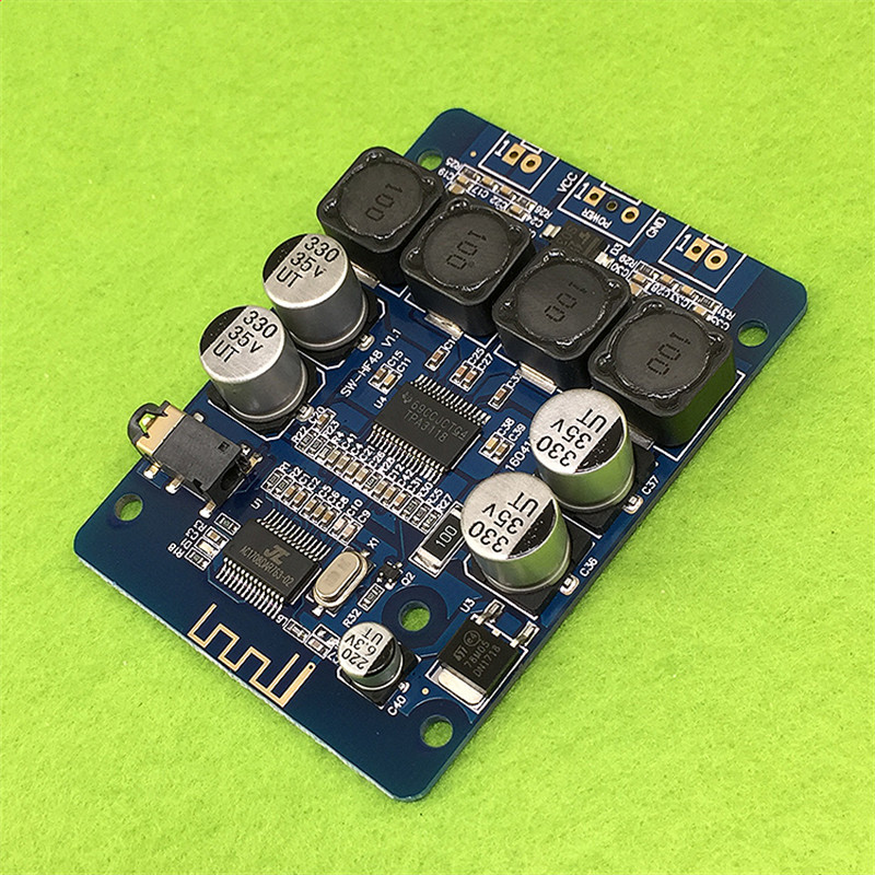 TPA3118 2x30W 8-26V DC Stereo Bluetooth Digital Amplifier Board For RC Toys Model hot sale wireless bluetooth digital 2 1 channel amplifier board 50w 50w stereo output 100w bass output for rc parts