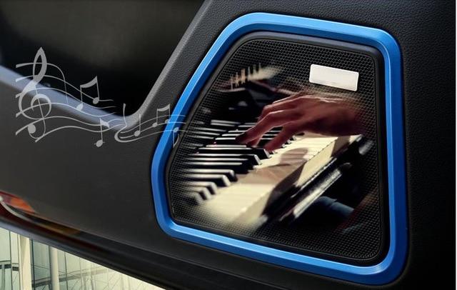 ABS Chrome Door Speaker Cover Trim Frame Decoration For Porsche Macan font b Car b font