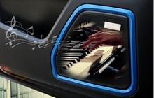 ABS хромированные дверные Динамик крышка отделка Рамки украшение для Машина porsche Macan Аксессуары для салона автомобиля укладки