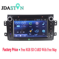 JDASTON Android 6.0 Car DVD Player for SUZUKI SX4 Fiat Sedici 2006 2007 2008 2009 With GPS Navigation Audio Radio HD 1080P Map