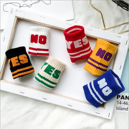 Children's socks wholesale tide kids boys girls 2021 years new left and right foot sports letters cotton socks 3