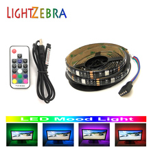 17key remote controller RF wireless control LED strip usb backlight 5050 RGB 200cm 60 LEDs for TV PC monitor 5V mood light