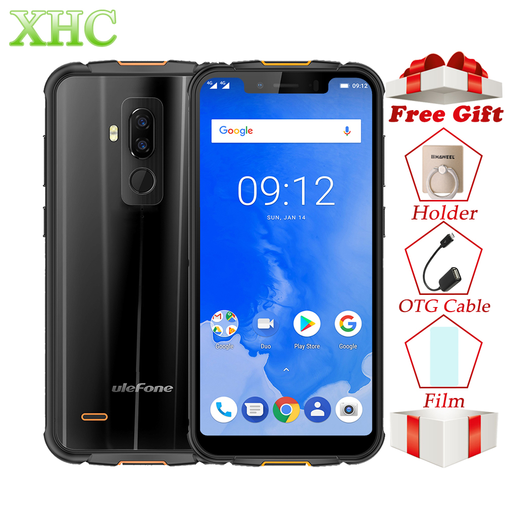Ulefone Armor 5 IP68 Waterproof 4GB+64GB Cellphone Android 8.1 5.85'' Octa Core NFC Face ID Wireless Charge Dual SIM Smartphone