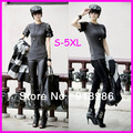 2016 Hot Sale Winter Autumn Fashion 5XL Plus Size Patchwork Velvet Skinny Pants Leggings For Women