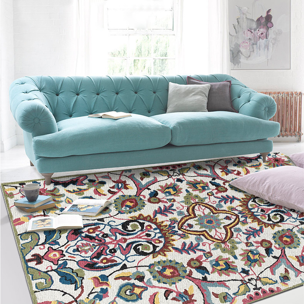 Home Nordic Green Persian Fashion National Wind Area Rugs Living Room Kid's Bedroom Bedside Floor Carpet Kitchen Bathroom Mat