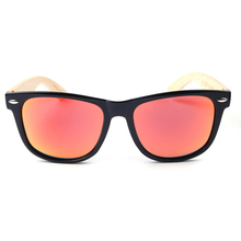 5Colors Wholesale Classical PC Frame with Bamboo Temple Sunglasse and Polarized REVO Lens Spring hinges 1Lot=12pcs