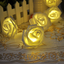 Romentic 20LED Bulb String Lights Rose Flower Fairy Led String For Wedding Garden Party Christmas Decoration — ALI88