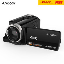 Andoer HDV-534K 4K 48MP WiFi Digital Video Camera 1080P Full HD 3inch Capacitive Touchscreen IR Infrared Night Sight 16X Zoom(China)