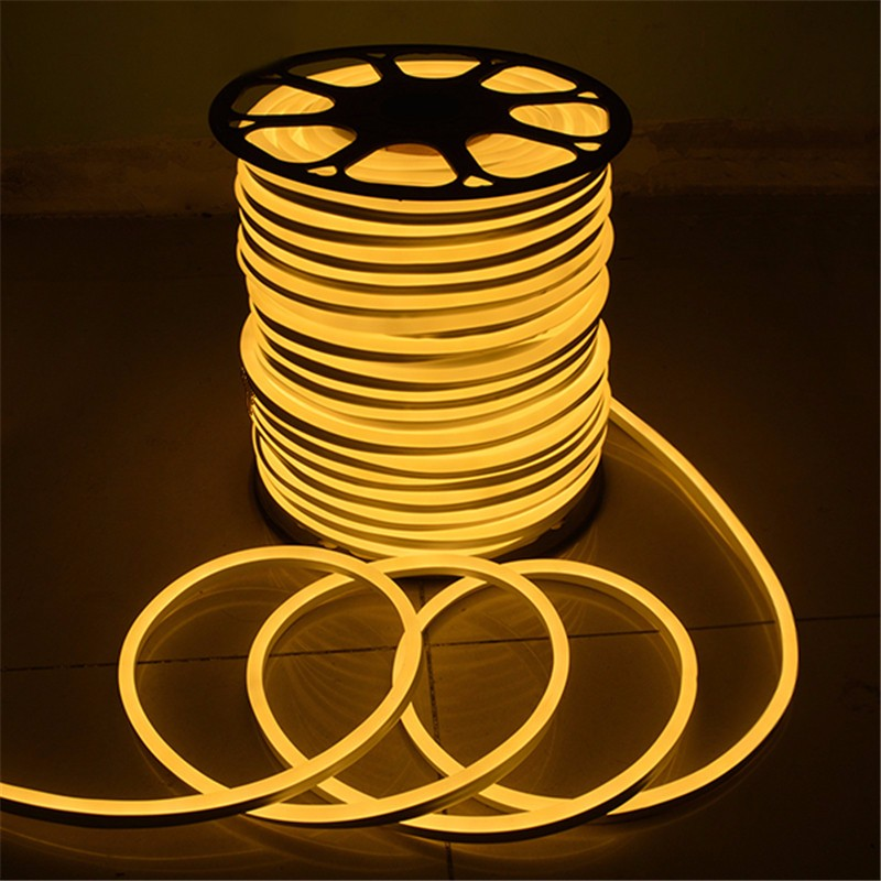 Flexible 15M 2835 SMD LED Neon Rope LED Strip Light Christmas Outdoor Waterproof AC110V US Plug