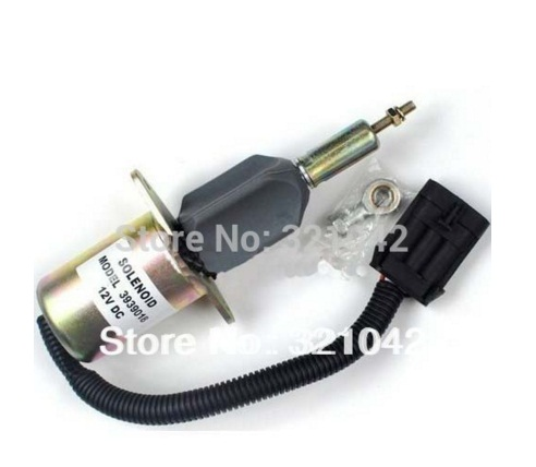 6CT Fuel Shutdown Solenoid Valve 3939018 SA-4889-12 12V fuel shutdown solenoid 1823723c91 sa 4338 24 for cummins navistar 24v