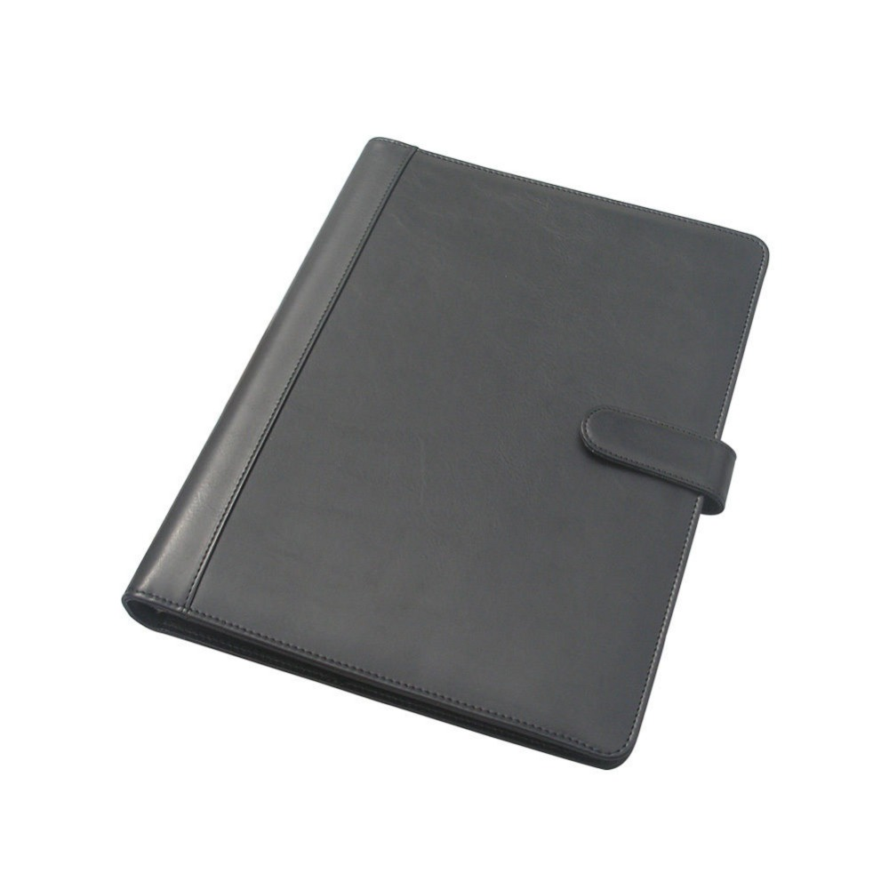 Hasp Lock A4 Leather Covered File Folder Ring Binder