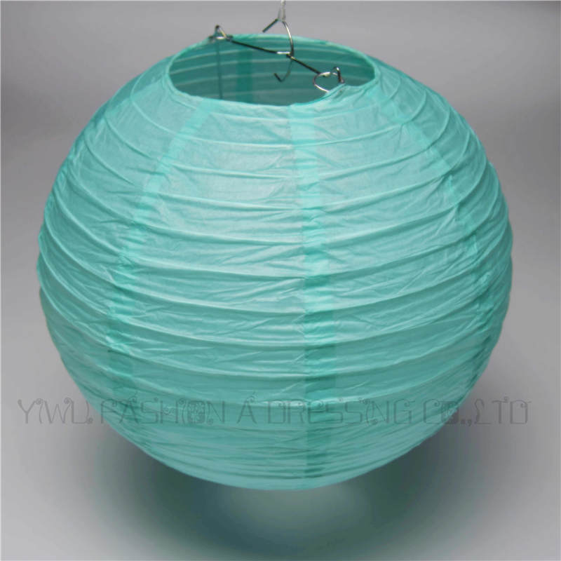 20pcs/lot 8inch(20cm) Caribbean Blue Chinese Rice Paper Lantern Ball Hanging Party Venue Decorations Free Shipping
