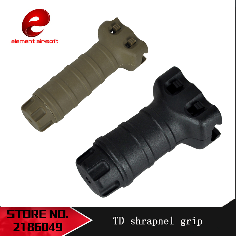 Element Tactical TD Shrapnel Grip Water Bomb Gun Tactical Nylon Vertical Grip JinMing M4 Front Grip Appearance Modified Parts