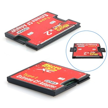 1/ 2 Port Slot Micro SD SDHC TF to CF Type I Flash Compact Card Reader Adapter