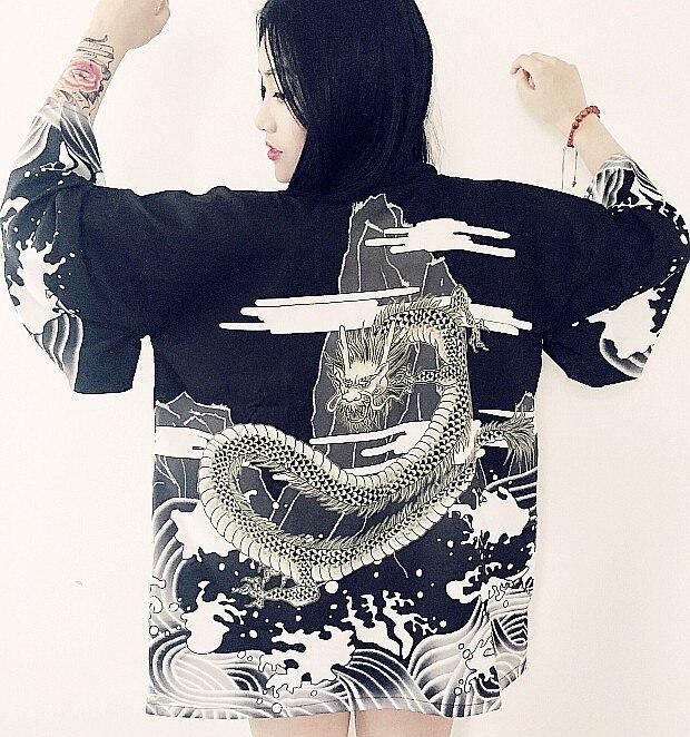 HTB1No0AKXXXXXXDXXXXq6xXFXXX4 - Vintage novelty summer dragon chiffon women clothing
