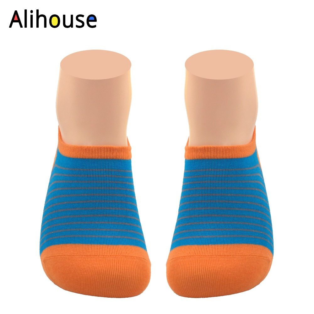Alihouse Men Socks Happy Socks Funny Colorful Striped Cool Boat Socks Combed Cotton Breathable Casual Novelty No Show Socks Men