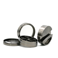 High Quallity Large 75mm Metal Zinc Alloy Herb Grinder With Paper Storage 4 Layers Smoking Accessories Tobacco Herbal Grinder