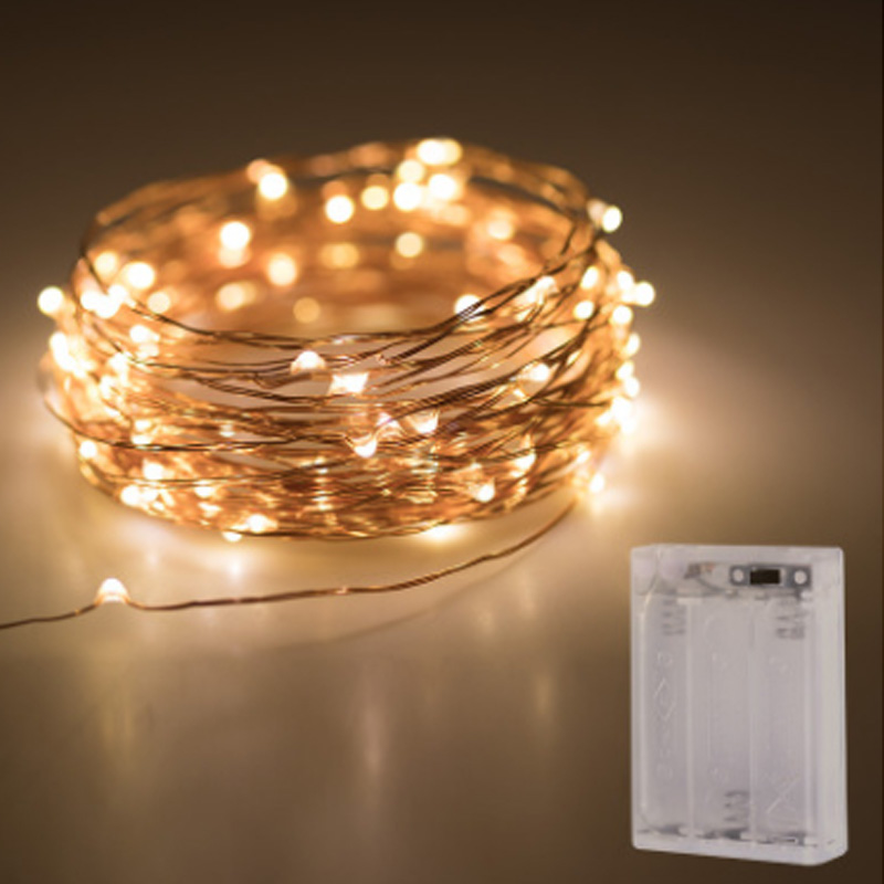 Fairy LED String Lights 10M 5M 2M 3XAA Battery Operated LED Holiday Light for Garland Party Wedding Christmas Decoration