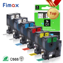 Fimax 6 PK for Dymo D1 Standard Label Tape dymo 45013 45016 45017 45018 45021 for Dymo Label Printer 45010 Dymo D1 12mm Tape fimax 10 pcs for dymo d1 label printer ribbon dymo 45013 12mm dymo d1 label tape black on white s0720530 for dymo d1 label maker