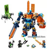 567Pcs Fit Legoness 72004 Nexo Knights The Future High tech Magic Armored Ares Mech Building Blocks Toys For Kid Christmas Gifts