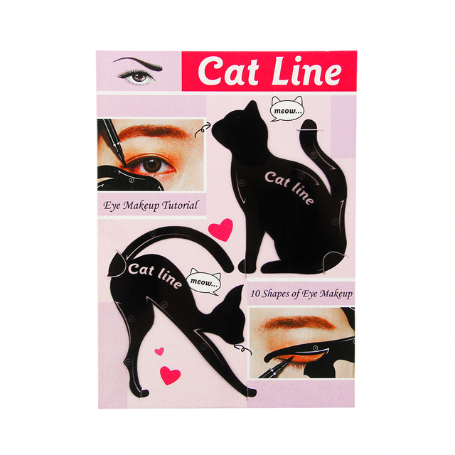 Cat Eye Fish Tail Double Wing Eyeliner Stencil Eyeliner Stencil Models Template Shaping Tools Eyebrows Template Card DIY Beauty 2
