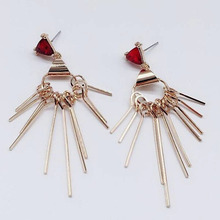 2018 new Fashion Earrings Punk Long Section Tassel Pendant Size Circle For Ladies Gifts Wholesale