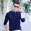 XXXL Size High Quality New Men's Polo Shirts Brand Clothing Solid Red Long Sleeve Polos Shirt Men Business Camisa Polos Shirts