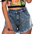 Hot Summer Ripped Shorts Women Sexy Denim Shorts 2017 New Hole Irregular Short Feminino High Waist Jeans Short Plus Size FL360