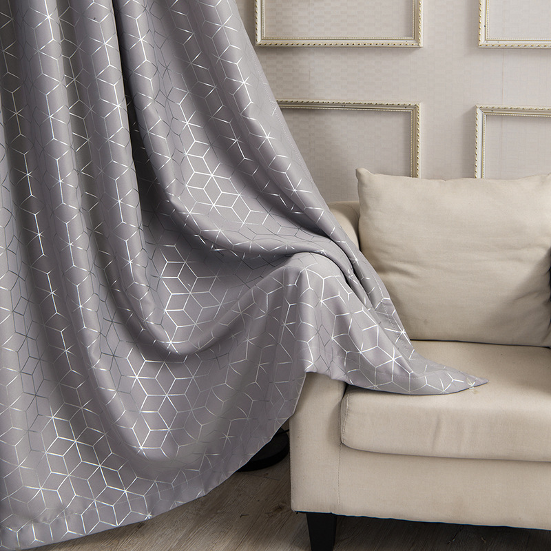 New Plaid Gilded Silver Curtains For Living Room Window Treatments  Sheer Curtains Bedroom Modern Gray Roman Blinds Kids Room