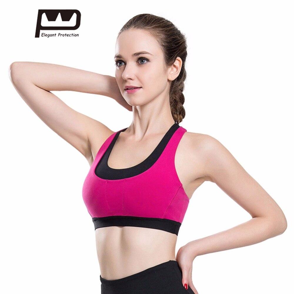 2017 neue frauen sport bh weste f r jogging fitness yoga gym tennis zur ck kreuz verband cropped. Black Bedroom Furniture Sets. Home Design Ideas