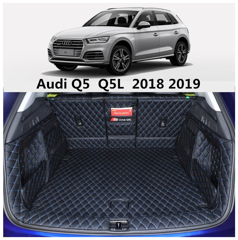 Full Rear Trunk Tray Liner Cargo Mat For Audi Q5 Q5L 2018 2019 Floor Protector foot pad High Quality mats By EMS