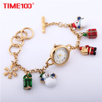 TIME100 Women Bracelet Watches Christmas style Quartz Waches Colorful gift Ladies Wrist Watch Clock snowmen Relogio feminino