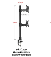 Desktop Clamping 13 27 Dual Screen Monitor Holder Long Arm Monitor Mount Retractable Rotation LCD TV Mount Rack Arm Base SC013A