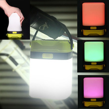 Silicone Portable Lantern LED Flashlights Camping Light Colorful Night Light For Tent Emergency Hurricane Outage Survival Tool