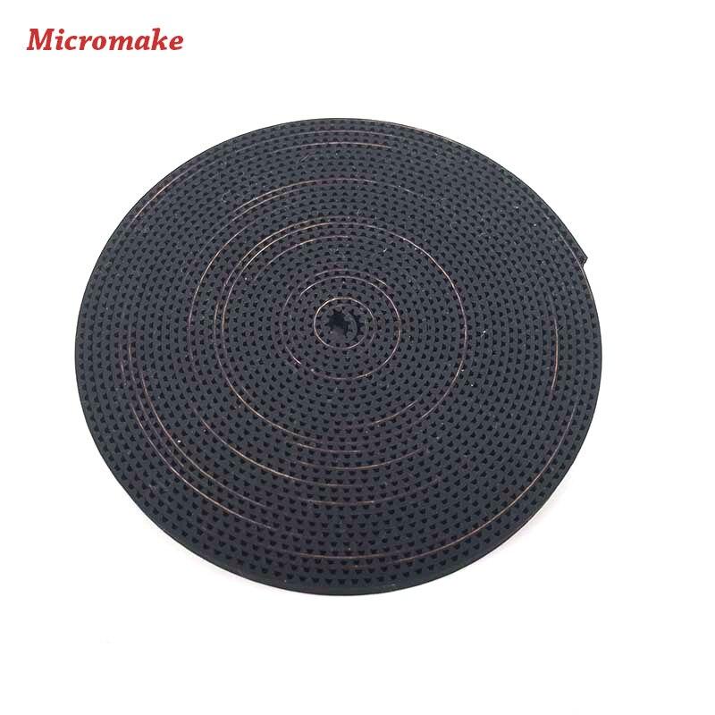 Micromake 3D Drucker Zubehör 6mm Breit und 2mm Pitch GT2 Transmation Zahnriemen