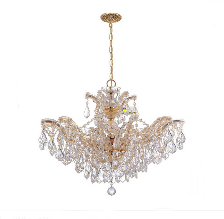 купить Maria Theresa Crystal Chandelier Lighting Modern Crystal Chandelier Chrome Chandelier +Free shipping! по цене 21832.64 рублей