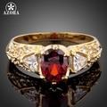AZORA большой красный овальной формы Яйцо фианит палец кольцо TR0051 - фото