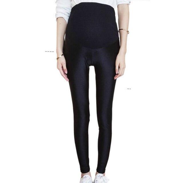 bcacc83436a53 APREGIES Pregnant High Waist Shiny Leggings Maternity Pencil Pants Autumn  Fashion Trousers Elastic Skinny Pregnancy Leggings