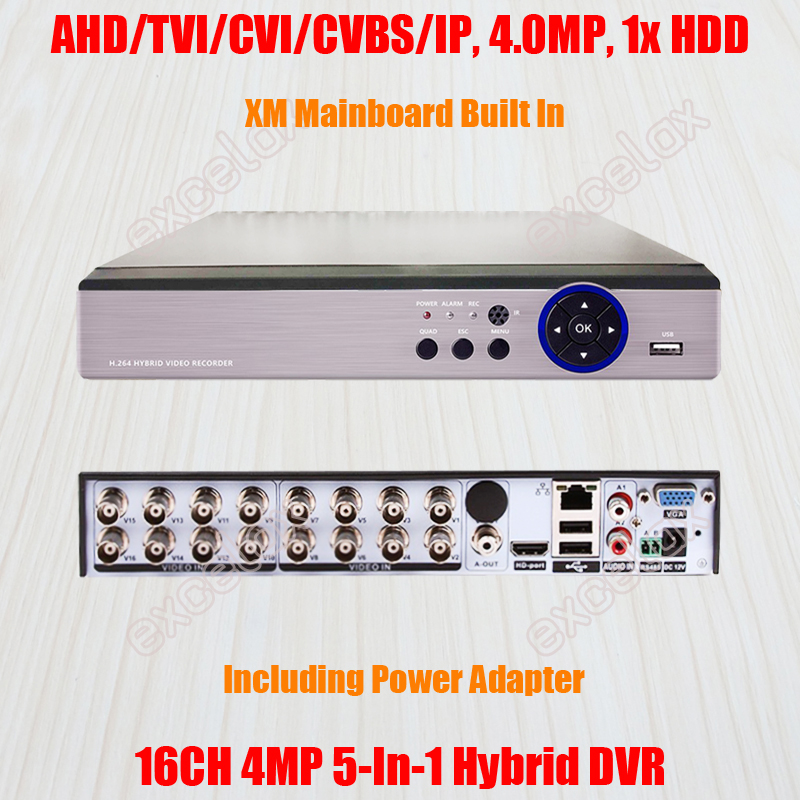 4MP 3MP 2MP 8CH  DVR with HD TVI AHD CVI 960H IP Remote Viewing USA Tech Support