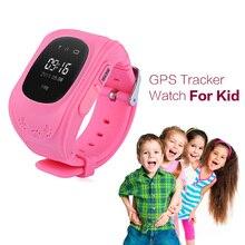 Q50 Inteligente Niños Perdida Anti GPS Tracker Reloj de Bebé Para Niños SOS Teléfono Móvil GSM App Para IOS y Android Smartwatch Pulsera