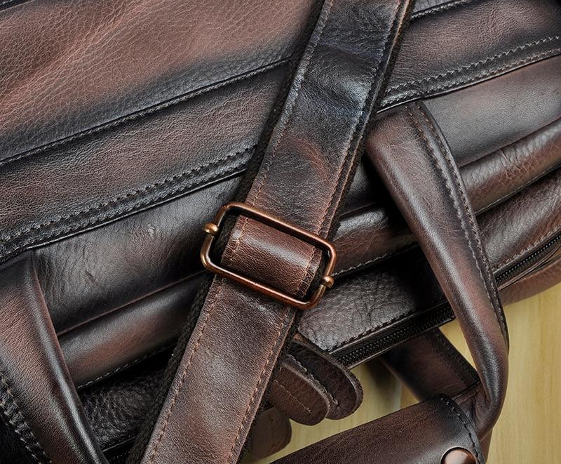 HTB1No21X0jvK1RjSspiq6AEqXXaz Men Oil Waxy Leather Antique Design Business Briefcase Laptop Document Case Fashion Attache Messenger Bag Tote Portfolio 7146