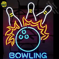 Neon Sign for Bowling Ball Neon Bulbs sign handcraft Real Glass tubes Decorate Game Room light personalized electronic signs