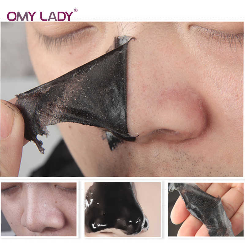 2019 New Style OMY LADY Blackhead Remover Nose Mask Pore Strip Black Mask  Peeling Acne Treatment Black Deep Cleansing Skin Care