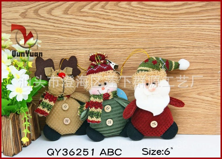 QY36251ABC-5-Christmas-Ornaments-Dolls-Santa-Claus-Snowman-Reindeer-Xmas-Decoration-Father-Christmas-Little-Hang-