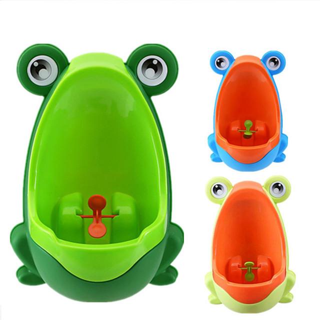 Urinarios Inodoro Orinal bebé Rana Niños de Pie Vertical de la Formación Infantil Boy Penico Pee Niño Montado En La Pared Los Niños Urinario