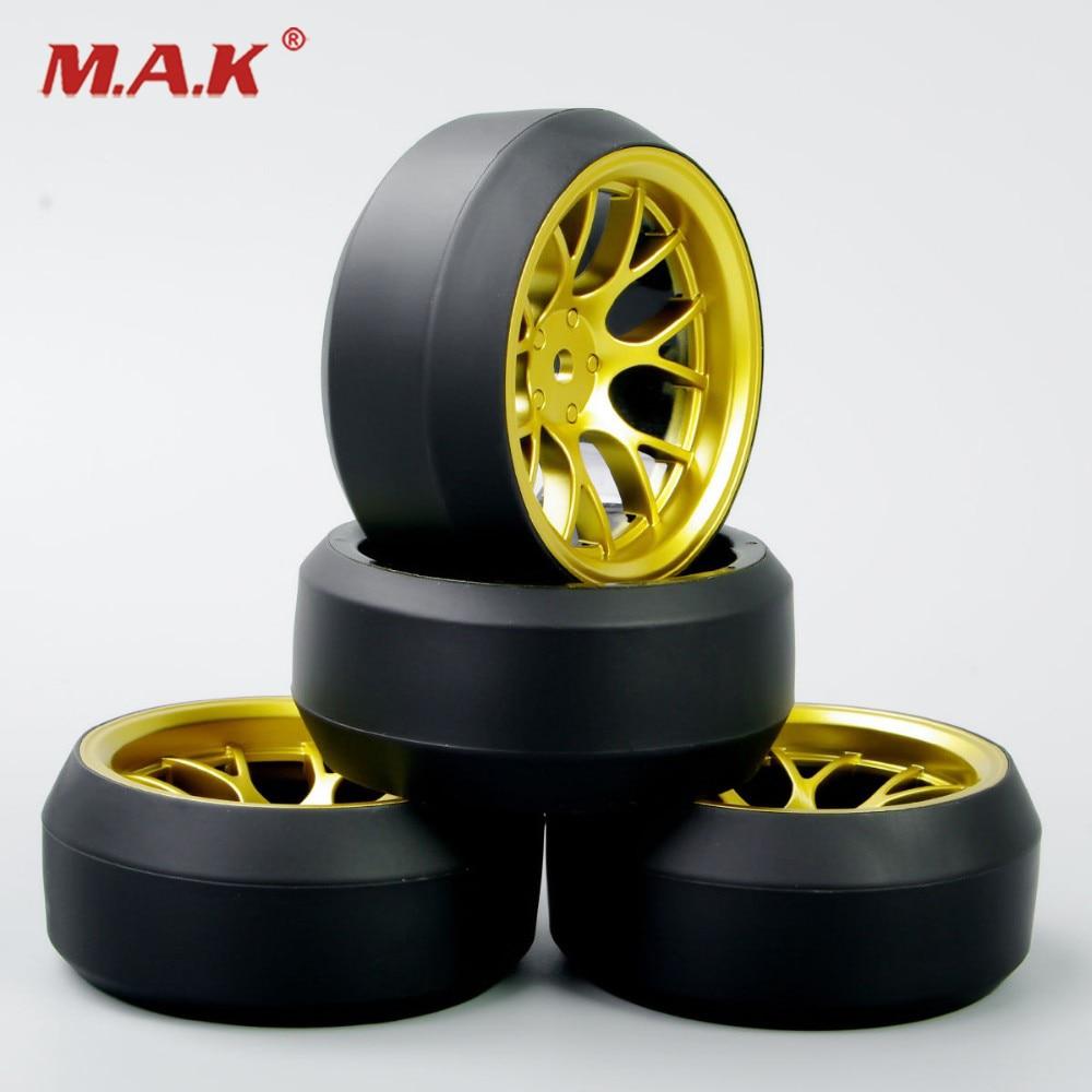 New 4Pcs/Set 12mm Hex 1:10 RC Drift Tires Speed 3 Degree Tyre Wheel Rim For HPI Drift Car Accessories