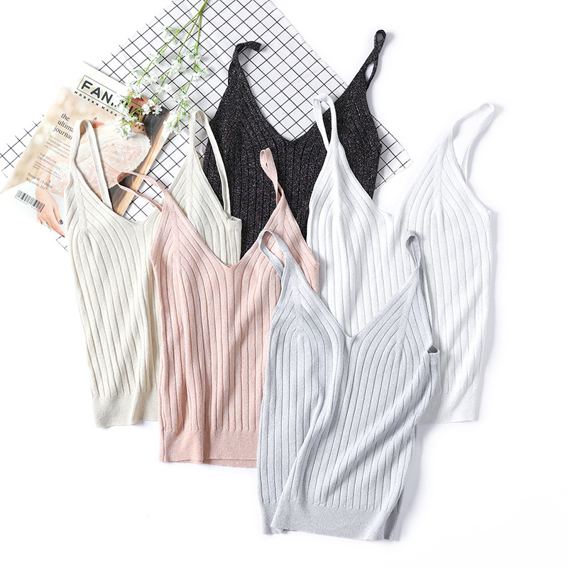 Uhren & Schmuck 100% Quality 5 Colors Spring Knitted Tank Tops New Hook Flower Lace Solid Stitching V-neck Camis Women Slim Outer Wear Shirt Trend 2019 Vest