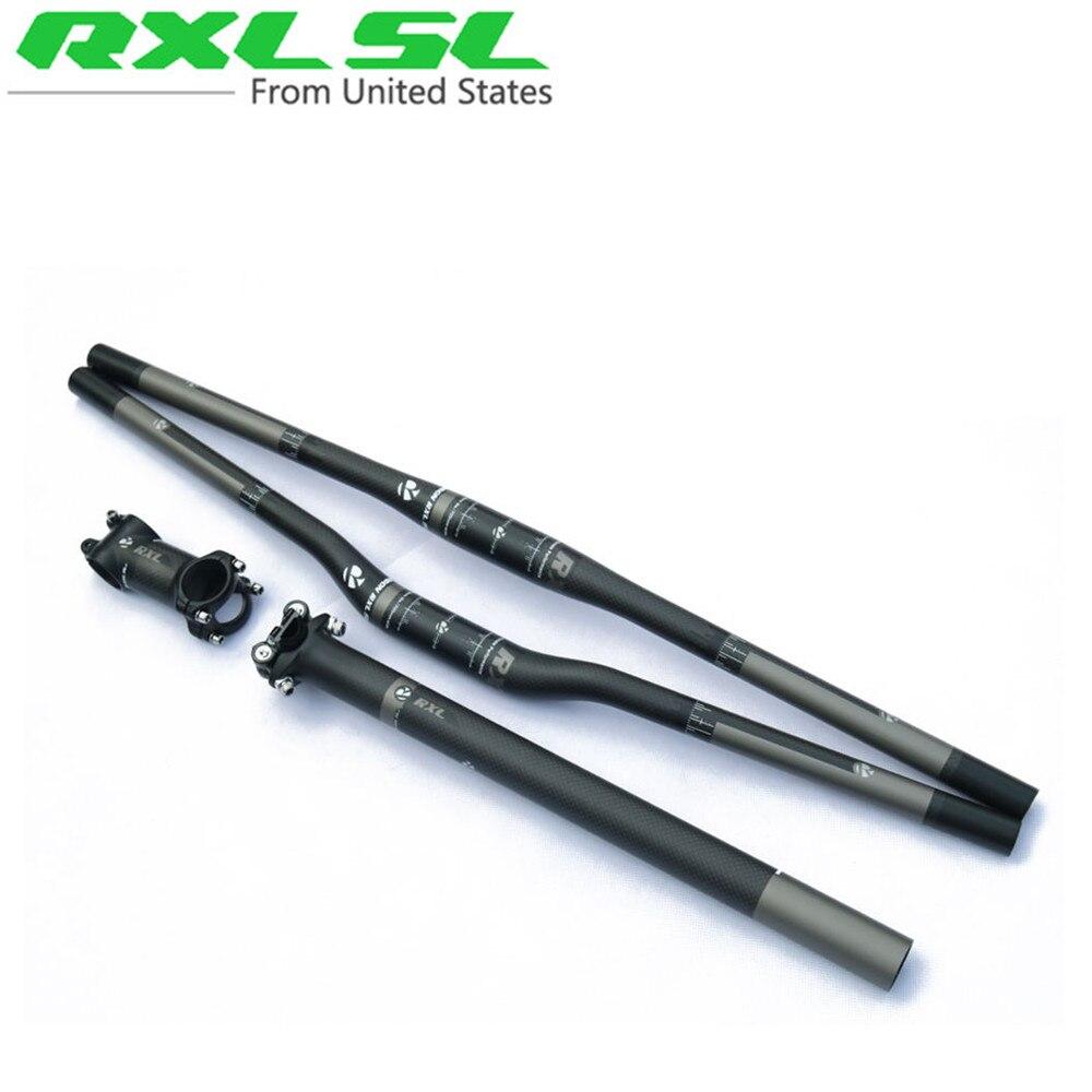 Цена за Rxl sl углерода горный велосипед mtb руль + карбон + подседельный углерода стволовых велосипед аксессуары серый матовый